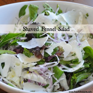 shaved fennel salad with banner