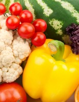 colorful background of fruits and vegetables