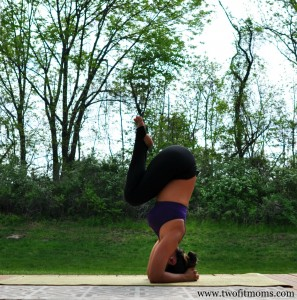 two fit moms » pose of the week sirsasana a